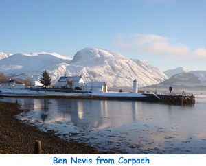 Ben Nevis and Aonach Mor from Corpach