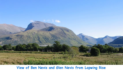 View of Ben Nevis and Glen Nevis from Lapwing Rise