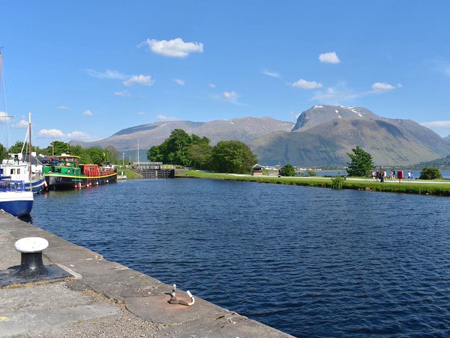 Caledonian Canal and Ben Nevis Fort William Scotland