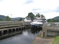 Ship on Caledonian Canal