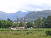 Yacht on Caledonian Canal
